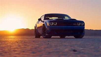 Challenger Dodge Srt Hellcat Sunset Wallpapers Desert