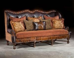 Western sofa rustic sofa hacienda sofa large sofa anteks for Large rustic sectional sofa
