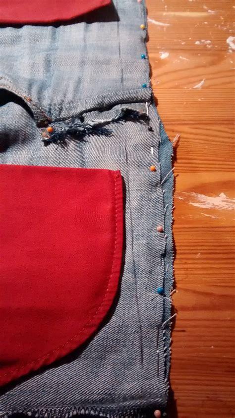 aus alten nähen tasche aus jeanshose n 228 hen tinistaschen tasche aus alter tutorial bag cheznu tv 30