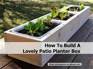 How To Build A Lovely Patio Planter Box