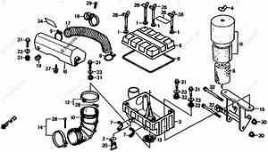 Honda Atv 1985 Oem Parts Diagram For Air Cleaner