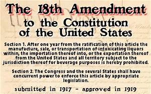 18th Amendment to the U.S. Constitution   Bill of Rights ...