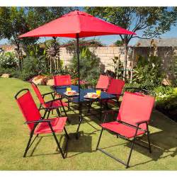 miami 8 piece folding sling patio dining set walmart com