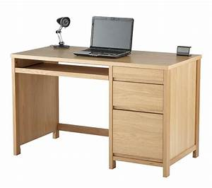 Hunter oak veneered home office desk for Furniture found in the home