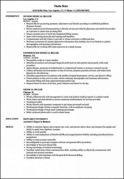 medical billing  coding resume resume resume
