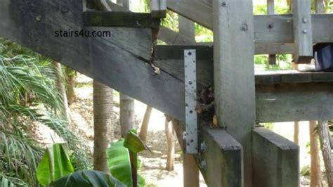 strap cracked stair stringers stairway repairs