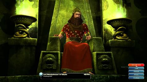 leaders civilization nebuchadnezzar isabella ii pachacuti