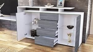 Credenza moderna Lecce madia con led mobile soggiorno di design