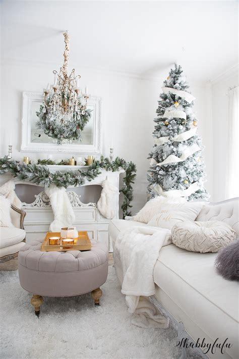 The Most Elegant & Glamorous White Christmas Living Room