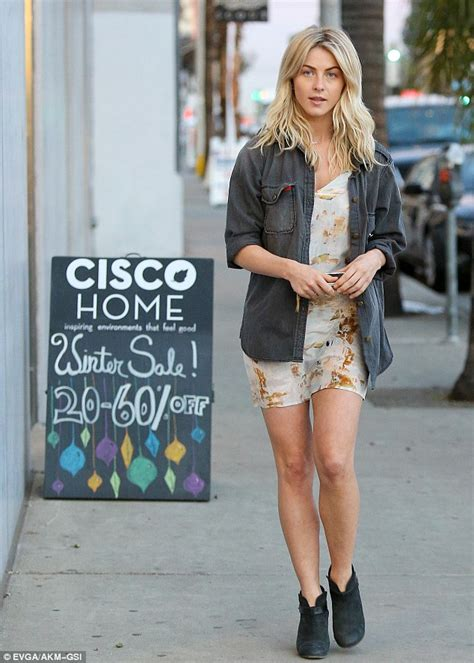 Little Rock Furniture by Julianne Hough Hits The Sales Wearing A Pretty Floral Mini