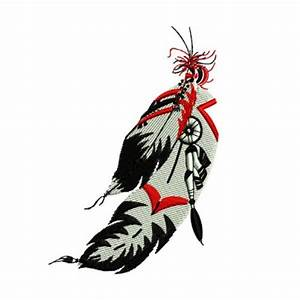 Native American Indian Feathers Western Embroidery Design ...