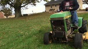 Mowing With A John Deere 317
