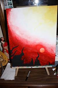My painting of Heaven and Hell by Hana1991 on DeviantArt