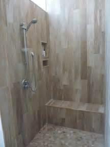 Tiled Walk In Showers by Tile Options For Walk In Shower Joy Studio Design