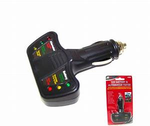 12 Volt Led Battery And Alternator Tester For Cars And