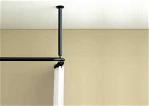 barre de pole sans fixation plafond rideaux de et tringles de rideaux pour un espace sans entrave