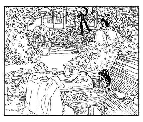 Monet Painting  Art Coloring Pages For Kids To Print & Color