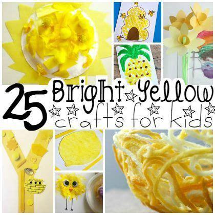 25 bright yellow crafts for preschoolers yellow crafts 669   56c8058275b4284789285425c8b3f146