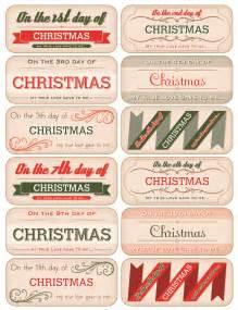 12 days of christmas tag downloads november december 2012 paper crafts