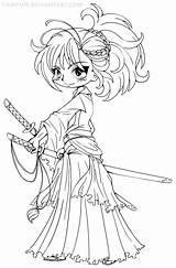 Coloring Chibi Yampuff Deviantart Printable Musashi Colouring Lineart Miyamoto Unicorn Sheets Character Adult Para Cool Desenhos Infantis Pintar Colorir Anime sketch template