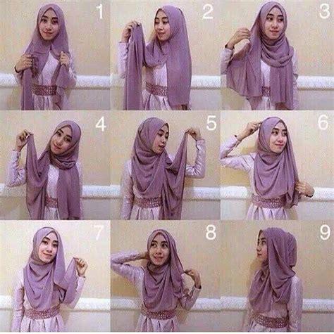 memakai hijab pashmina cantik busana muslim turbantes