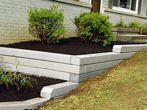 install  timber retaining wall hgtv