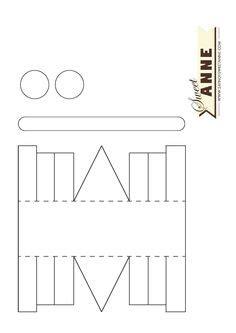 hammer pattern   printable outline  crafts