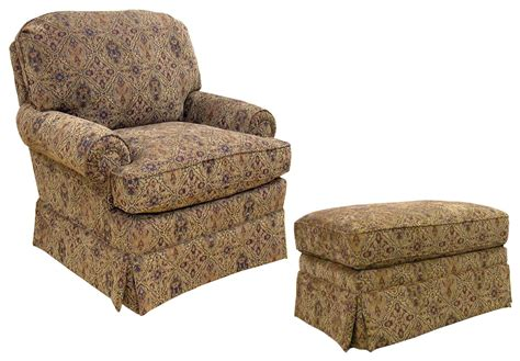 upholstered arm chair with ottoman by best home