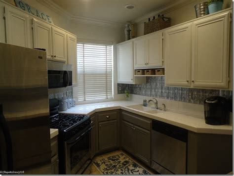 kitchen renovations using gray and white remodelaholic two toned kitchen makeover