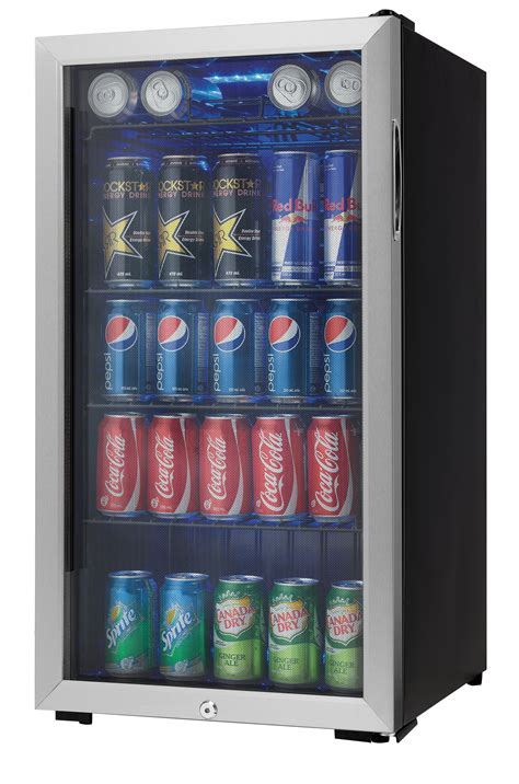 Beverage Fridge by Danby 120 Can Beverage Center Stainless Steel Dbc120bls