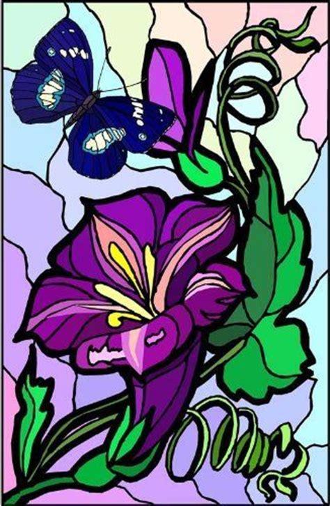 purple stargazer lily flower  blue butterfly vinyl