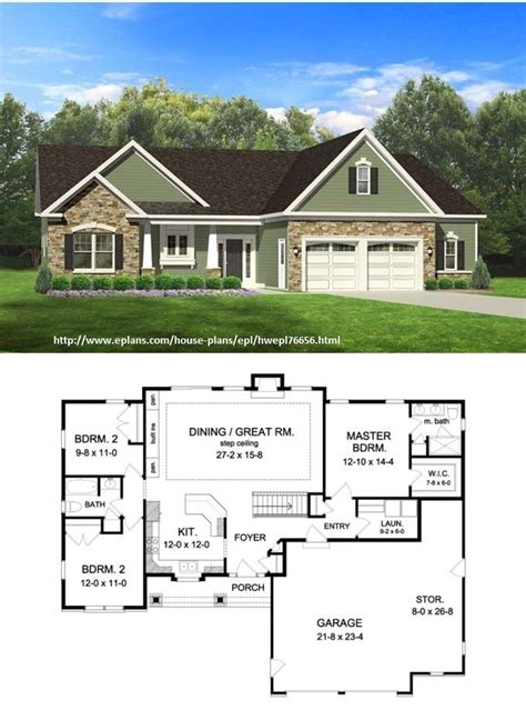photos and inspiration walkout ranch floor plans bedroom 2 bath ranch houseplans best free home