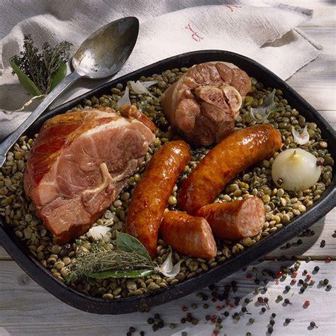 cuisine lentilles vertes recette petit salé aux lentilles vertes du puy