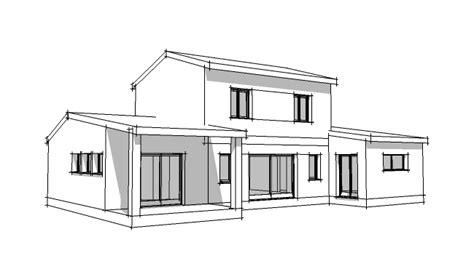 comment dessiner une chambre en perspective plan de maison provençal 4 pièces villad 39 architecte 149