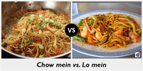 what is the difference between chow mein and lo mein difference between chow mein and lo mein