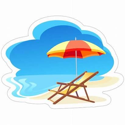 Beach Sticker Stickers Relax Decals Designs Clipart
