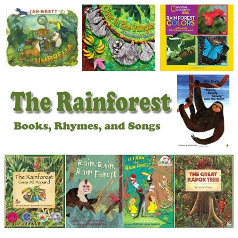 preschool songs about books rainforest books rhymes and songs kidssoup 787