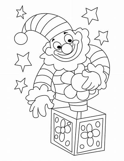Clown Coloring Circus Pages Happy Drawing Printable