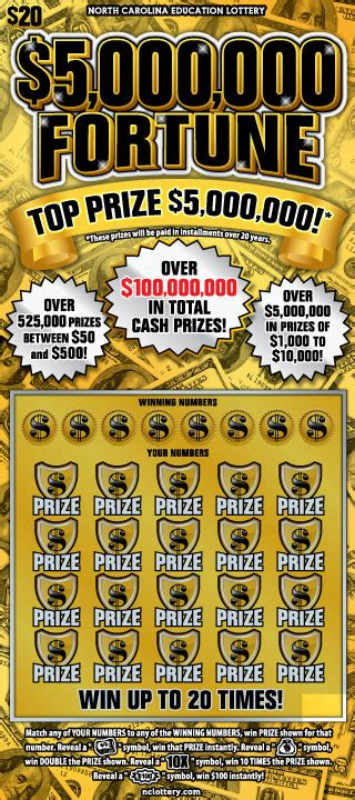 scratch offs details nc education lottery