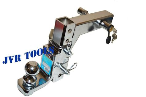 chrome adjustable trailer drop hitch ball mount heavy duty trailer tow kit  ebay
