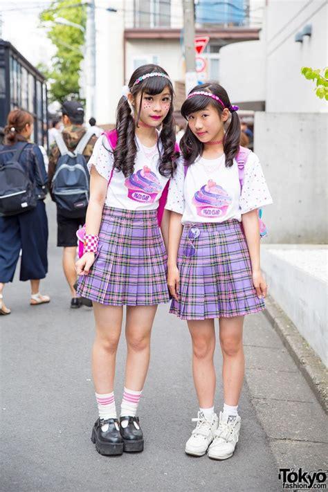 peco club girls  harajuku  matching bubbles plaid skirts