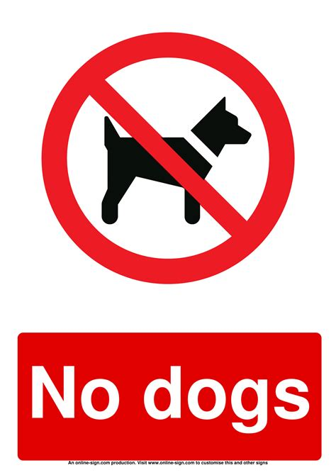 dog signs poster template