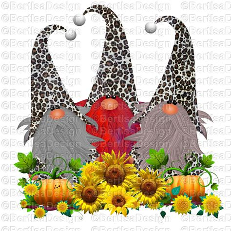 Holiday posters, banners, cards and much more, all ready to download in jpg and svg. Fall Leopard Gnomes Sublimation/ Instant download ...