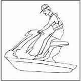 Jet Coloring Ski Skiing Sheet Printable Skis Getcolorings Freecoloringsheets sketch template