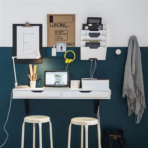 bureau mural blanc ikea  accrocher au mur idee de petit