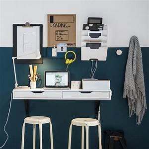 Bureau Mural Ikea : bureau mural blanc ikea accrocher au mur id e de petit ~ Dode.kayakingforconservation.com Idées de Décoration