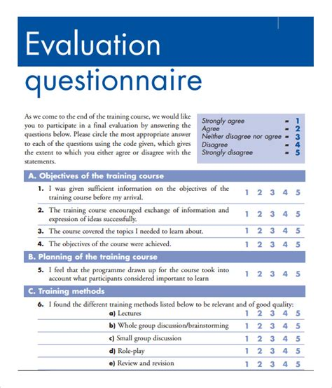 free sle training evaluation forms in pdf