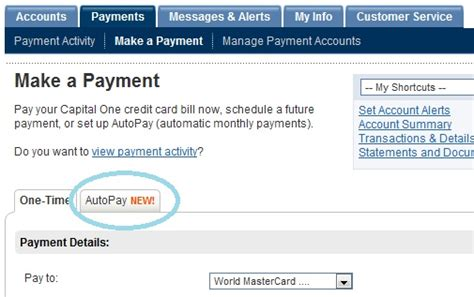 Lately, capital one have introduced a new function inside their online management area to allow. Capital One Credit Card Offers Auto Pay - 2million Personal Finance Blog, My Journey to ...