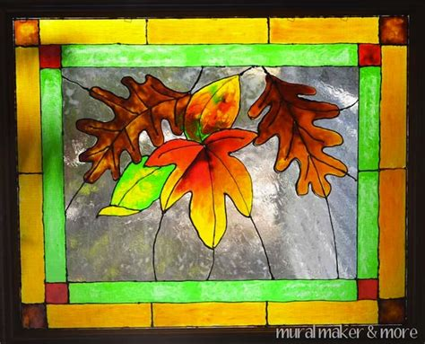 faux stained glass windows