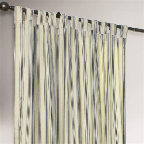 thermalogic 174 navy striped weathermate curtains set of 2